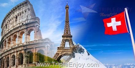 TE018  : โปรแกรมทัวร์ยุโรปตะวันตก อิตาลี สวิตเซอร์แลนด์ (จุงเฟรา) ฝรั่งเศส 10 วัน 7 คืน (TG)