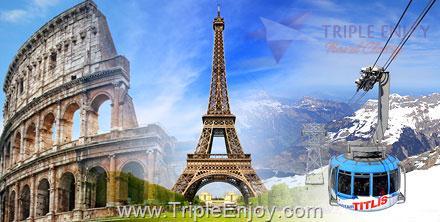 TE019  : โปรแกรมทัวร์ยุโรป อิตาลี โมนาโก ฝรั่งเศส สเปน 10 วัน 7 คืน (QR)
