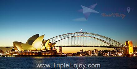 TE040  : โปรแกรมทัวร์ออสเตรเลีย ซิดนีย์ บลูเมาท์เท่นส์ เมลเบิร์น 7 วัน 4 คืน (TG)