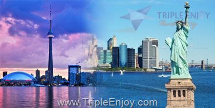 TE055  : ทัวร์อเมริกาตะวันออก นิวยอร์ก แคนาดา พักห้องเห็นวิวน้ำตกไนแองการ่า 10 วัน 6 คืน (EK)